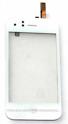 Тачскрин (сенсор) Apple iPhone 3G with frame+home+speaker+sensor flex, white (белый), фото 2