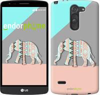 """Чехол на LG G3 Stylus D690 Узорчатый слон """"2833c-89"""""""