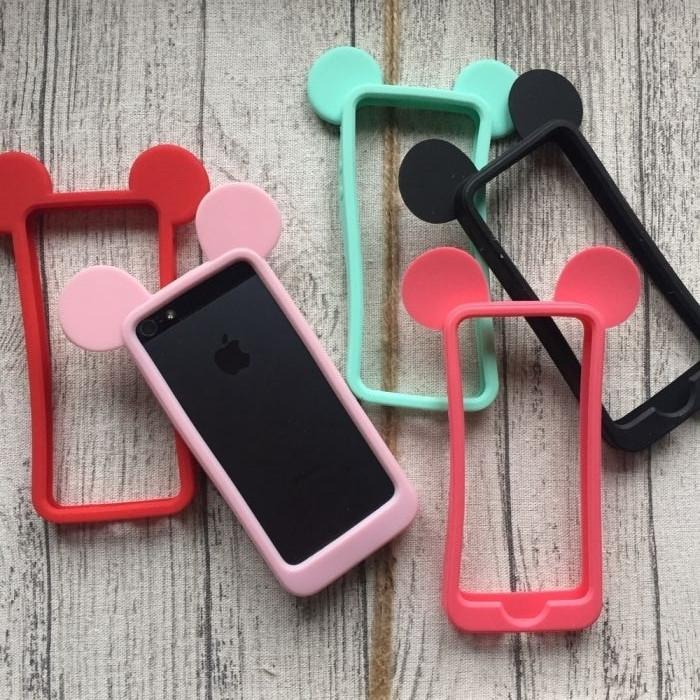 Бампер силиконовые ушки Микки на iPhone 5/5s/SE