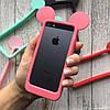 Бампер силиконовые ушки Микки на iPhone 5/5s/SE, фото 5