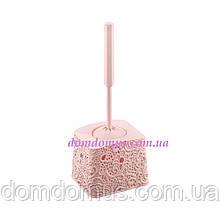 """Комплект для туалета """"Ажур"""" (ершик с подставкой) розовый"""