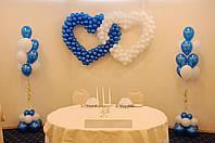 Свадебная композиция из шаров