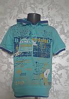 Детская футболка с капюшоном на мальчиков 110,116,122,128 роста BL