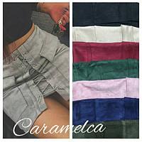 Женская короткая замшевая юбка в разных цветах. Материал эко замш. Размер с,м.