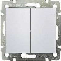 Выключатель 2-клавишный Legrand Valena (белый) 774405