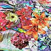 Штапель с оранжевыми лилиями и яркими цветами