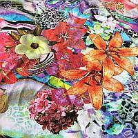 Штапель с оранжевыми лилиями и яркими цветами, фото 1