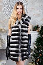 "Жилет з шиншили ""Еврідіка"" Natural chinchilla fur vest gilet"
