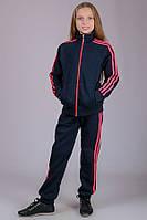 033033 - Детский спортиный теплый костюм для девочек Training (синий)