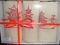 Полотенца для кухни и сауны в китайском стиле. Пагоды.