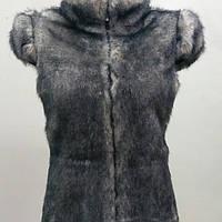 Жилет меховой женский серый (44;46;48)