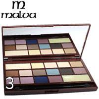 Malva - Тени для век 16-цветные Chocolate M-474 Тон 03 пастель, кофе, сирень, черные матовые