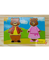 Детский пазл «Два медведя»