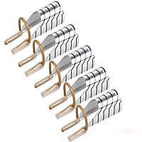 Многоразовые формы для ногтей (серебро)