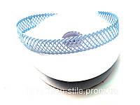 Лента в сеточку  ( 18м в рулоне,ширина 20мм), цвет голубой