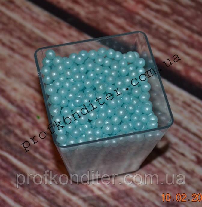 Блакитний перли 3мм 20 грам