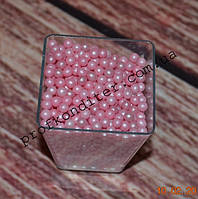 Розовый жемчуг 3мм 20 грамм