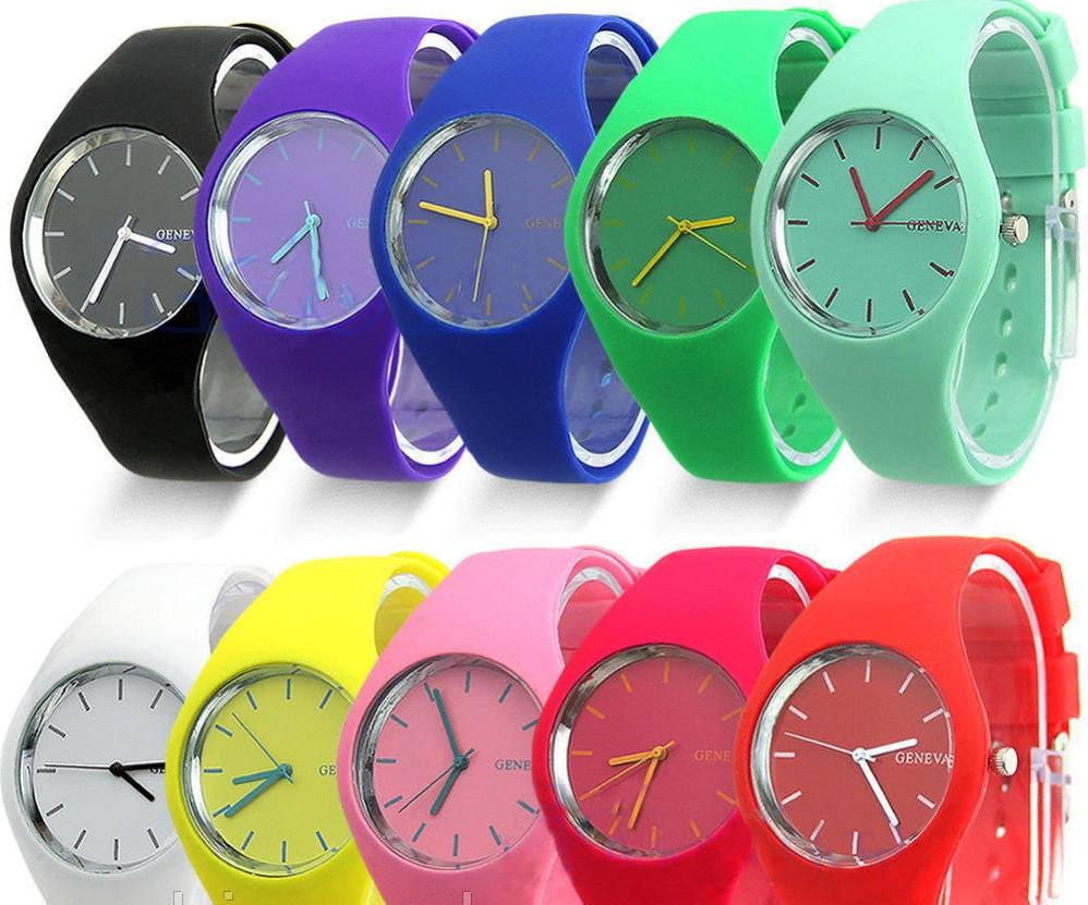 2610bbac Модные стильные женские часы Geneva , силиконовый ремешок,11 цветов -  Интернет магазин