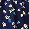 Штапель с мелкими цветочками на тёмно-синем фоне