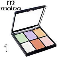 Malva - Палитра корректоров для лица 6-цветная M-476 Тон 01