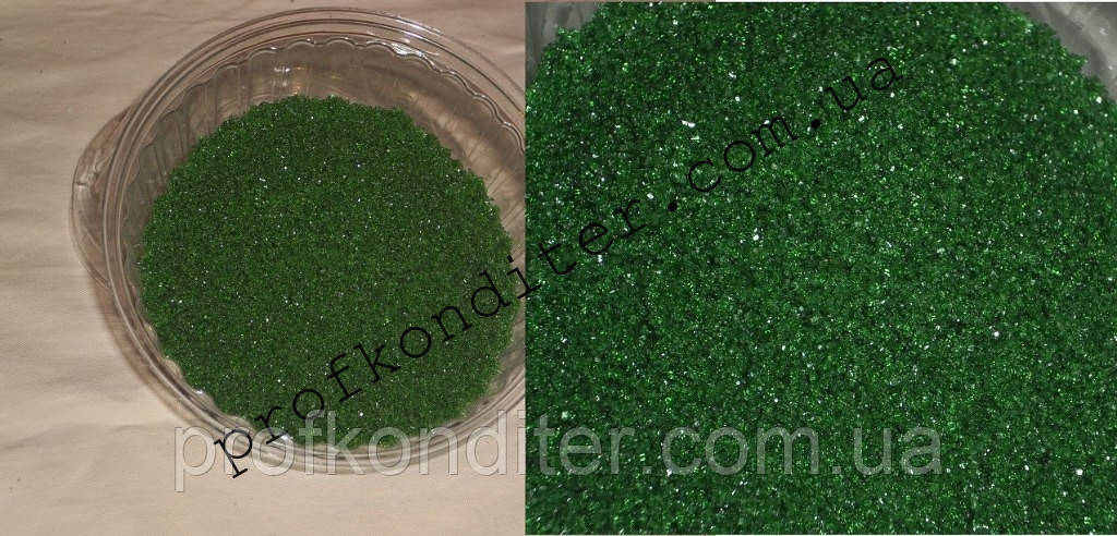 Кристали для декорування ЗЕЛЕНІ 100 грам