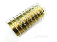 Проволока для бисера №0,3 золото 10м в катушке (10шт)