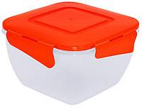 Контейнер для продуктов Алеана 0,45 л. (с зажим., квадрат.)