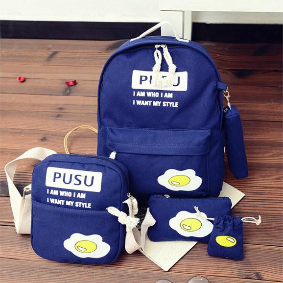 Школьный рюкзак с набором сумочек