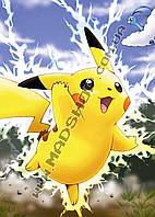 Картина 40х60 см Покемон Го Pokemon Go Молния Пикачу