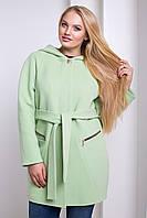 Модное пальто женское демисезонное с капюшоном в 3х цветах ML-055