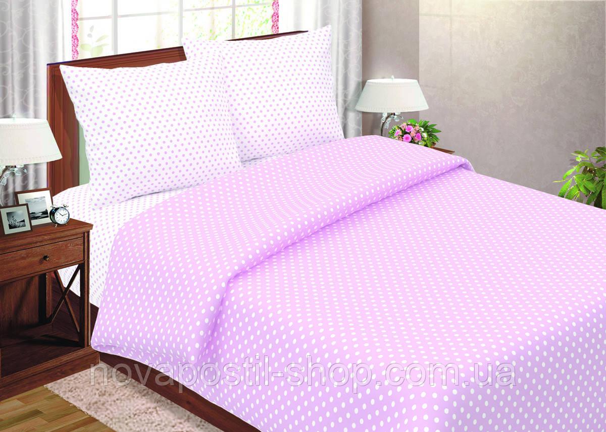 Постельное белье в горох (Комплект Розовый горох)