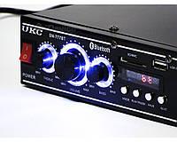 Стерео усилитель UKC SN-777BT Bluetooth, 2 по 25 Вт, 8 Ом.