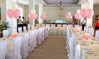 Свадебная композиция из гелиевых шариков
