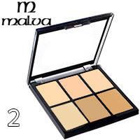 Malva - Палитра корректоров для лица 6-цветная M-476 Тон 02