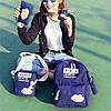 Школьный рюкзак 5 в 1 с принтом яичницы