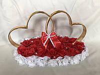 Сердца с розами на свадебную машину