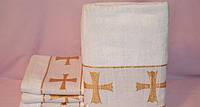 Полотенце махровая для крестин,  Крыжма  белая