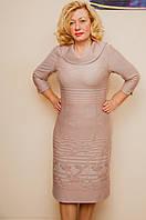 Весеннее женское платье большого размера
