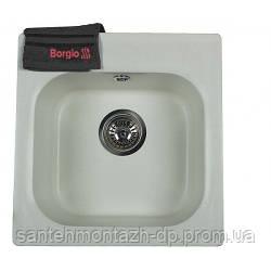 Мойка Borgio SQ-440/430, гранитная, Белый