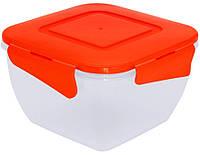 Контейнер для продуктов Алеана 1,5 л. (с зажим., квадрат.)