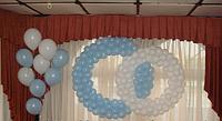 Фонтан из гелиевых шаров и кольца
