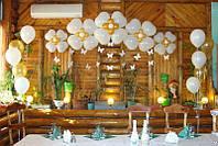 Необычное оформление свадьбы шарами
