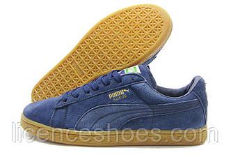 Синие мужские кроссовки Fenty Puma Suede Classic