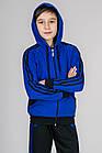 Детский спортивный костюм для мальчика и девочки Комби-лампас (электрик), фото 4