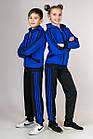 Детский спортивный костюм для мальчика и девочки Комби-лампас (электрик), фото 5