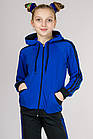 Детский спортивный костюм для мальчика и девочки Комби-лампас (электрик), фото 6