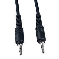 Аудио-кабель 3.5 jack M/M 1.5м черный