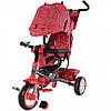 Детский трехколесный велосипед Tilly Trike T-341 red-2 (красный)