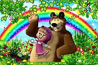 """Вафельная картинка """"Маша и медведь"""" - 32"""