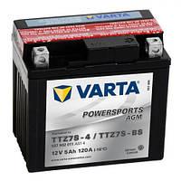 TTZ7S-BS VARTA FUN Мото аккумулятор 5 А/ч, 120 А, (-/+), 113х70х105 мм